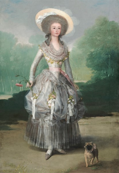 Pintura Goya com pug