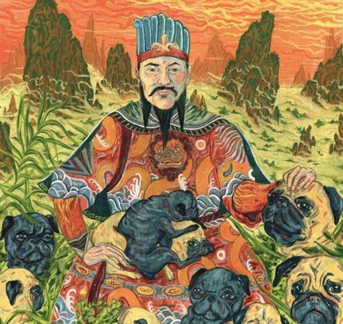 Pintura chinesa com pugs