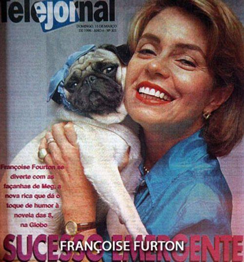 Pug Inês com Françoise Forton