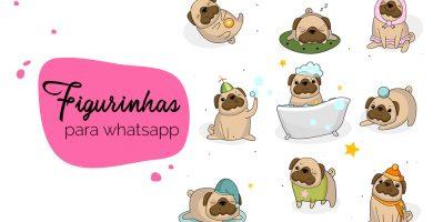 Como criar figurinhas para whatsapp: diferentes imagens de pugs