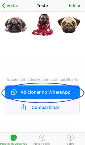 Screenshot passo 6 como criar figurinhas para whatsapp